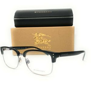 Burberry Men's Matte Black Square Eyeglasses!